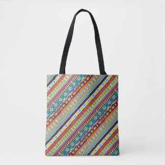 Charango Tribal Pattern Print All Over Tote Bag