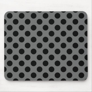 Charcoal and Black Polka Dots Mouse Pad