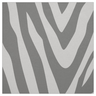 Charcoal and Gray Zebra Print Large Scale Fabric