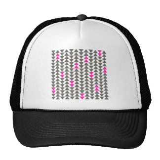 Charcoal and Magenta Triangles Cap