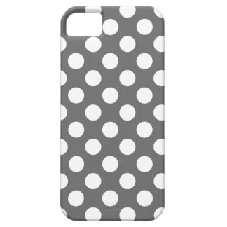 Charcoal and White Polka Dots iPhone 5 Case