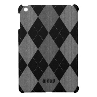 Charcoal Argyle Monogram Case For The iPad Mini
