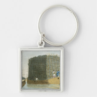Charcoal Bark, etched by the artist, published 180 Silver-Colored Square Key Ring