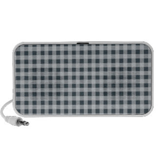 Charcoal Color Gingham Laptop Speakers
