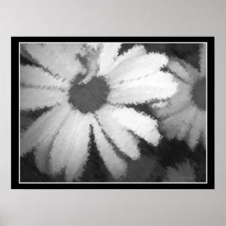Charcoal Daisies Print
