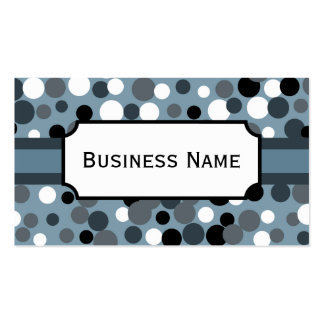 Charcoal Dots  Business Card