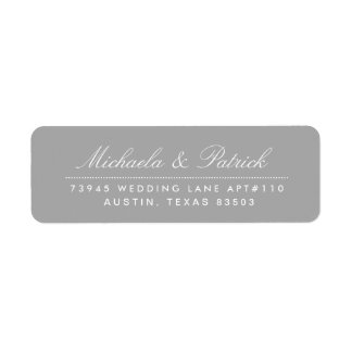 Charcoal Gray Address Labels