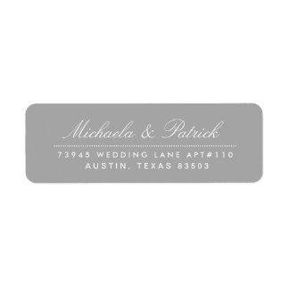 Charcoal Gray Address Labels