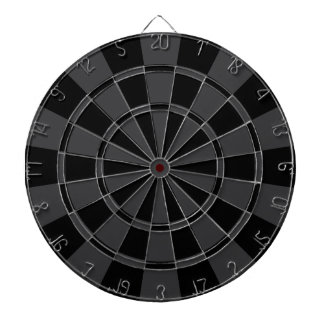 Charcoal Gray And Black Dartboard