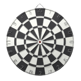 Charcoal Gray And White Dartboard