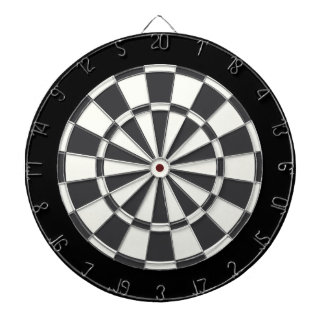 Charcoal Gray Black And White Dartboard