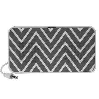 Charcoal Gray Chevron Pattern 2 iPhone Speaker