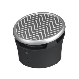 Charcoal Gray Chevron Pattern 2 Speaker