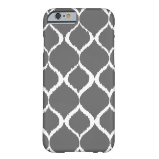 Charcoal Gray Geometric Ikat Tribal Print Pattern Barely There iPhone 6 Case