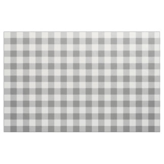 Charcoal Gray Gingham Pattern Fabric