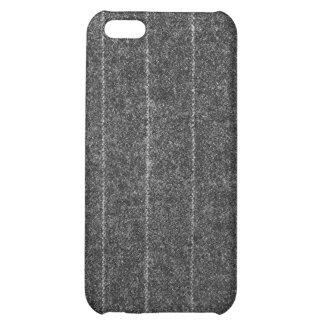 Charcoal Gray Pinstripe Tweed Slate Black Fabric iPhone 5C Case