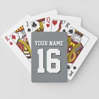 Charcoal Gray Sports Jersey Team Jersey Playing Cards