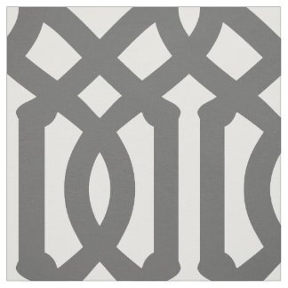 Charcoal Gray Trellis Large Scale Fabric