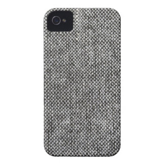 Charcoal Gray Tweed Fabric Texture Pattern iPhone 4 Cases