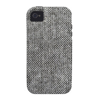 Charcoal Gray Tweed Fabric Texture Pattern iPhone 4/4S Case
