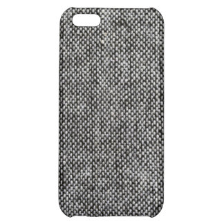 Charcoal Gray Tweed Fabric Texture Pattern iPhone 5C Cover