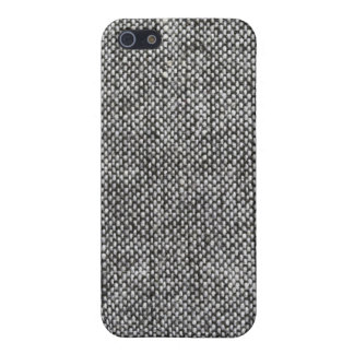 Charcoal Gray Tweed Fabric Texture Pattern iPhone 5 Case