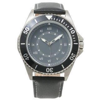 Charcoal Gray Wrist Watch with Roman Numerals
