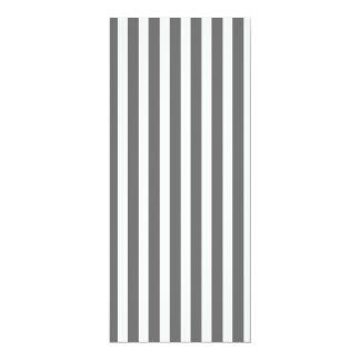 Charcoal Grey and White Cabana Stripes 10 Cm X 24 Cm Invitation Card