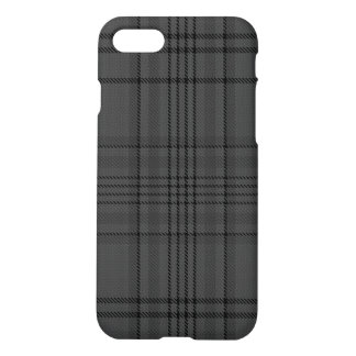 Charcoal Grey Black Tartan Plaid iPhone 8/7 Case