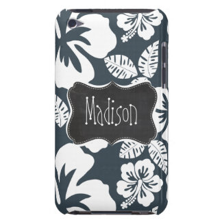 Charcoal Grey, Gray Tropical Hibiscus; Chalkboard Barely There iPod Covers
