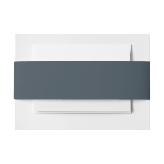 Charcoal Grey Invitation Belly Band