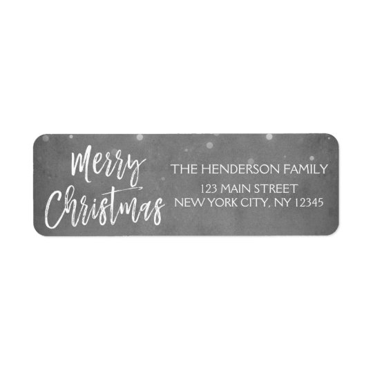Charcoal Grey or Silver Christmas Script Holiday