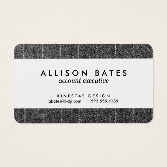 Charcoal Grey Pinstripe Tweed Slate Black Fabric Business