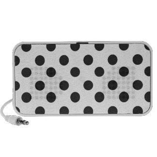 Charcoal Grey Polka Dot Mini Speaker