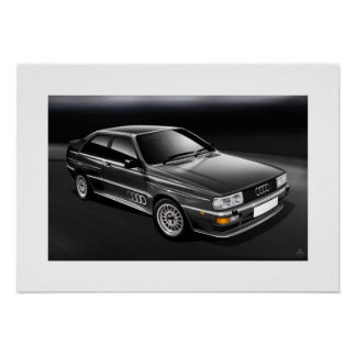 Charcoal Grey Quattro Poster