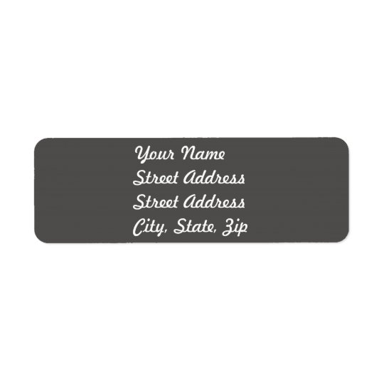 Charcoal Grey Return Address Sticker