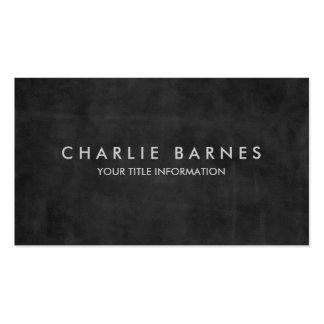 Charcoal Grunge Business Card