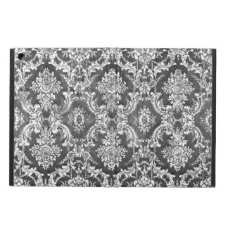 Charcoal Grunge Damask Pattern Case For iPad Air