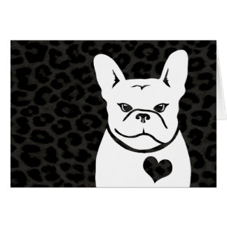 CHARCOAL LEOPARD FRENCHIE card
