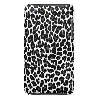 Charcoal Leopard White iPod Touch Cases