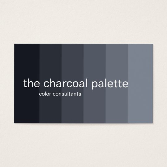 Charcoal Ombre Panels Business Card