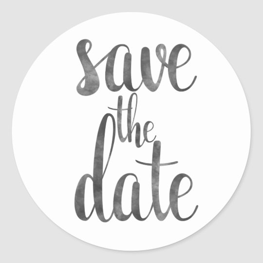 charcoal save the date stickers zazzle co uk