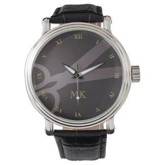 Charcoal Scissors & Monogram Watches