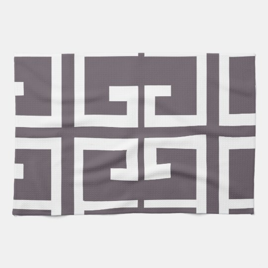 Charcoal Spanish Tile Tea Towel