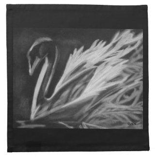 Charcoal Swan Napkin