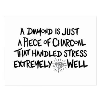 charcoal to Diamond Postcard