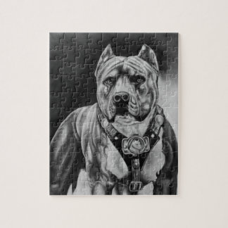 CHARCOIL PITBULL DRAWNING PUZZLE