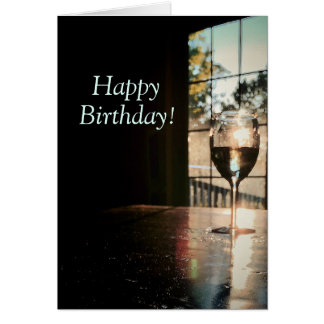 Chardonnay and Sunshine Birthday Card