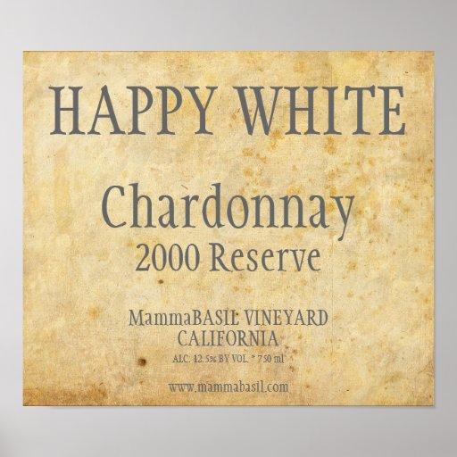 Chardonnay Label Poster