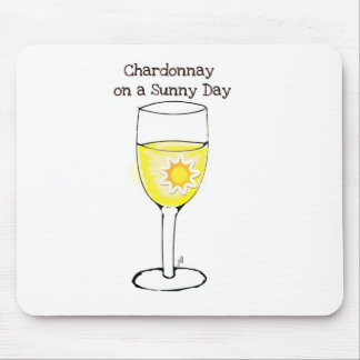 CHARDONNAY ON A SUNNY DAY WINE PRINT MOUSE PAD